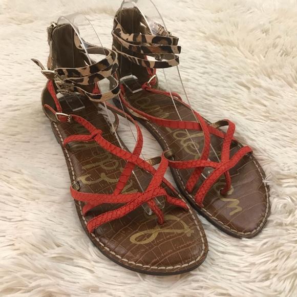 e5053264d Sam Edelman Orange And Pony Hair Gladiator Sandals.  M 5af799d68290afa5ab7cd254